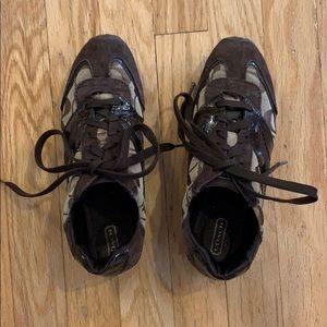 Coach dark brown sneakers